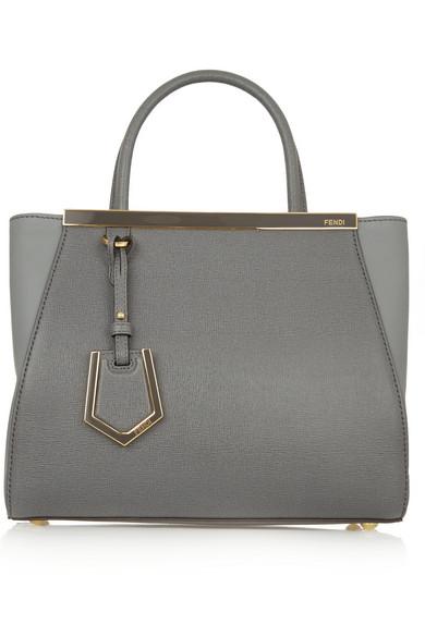 Grey Leather '2Jours' Petite Convertible Top Handle Bag