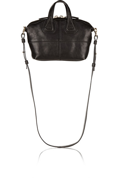Micro Nightingale textured-leather shoulder bag