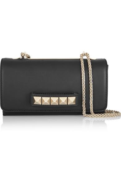 Black Patent Leather & Pyramid Stud Va Va Voum Bag