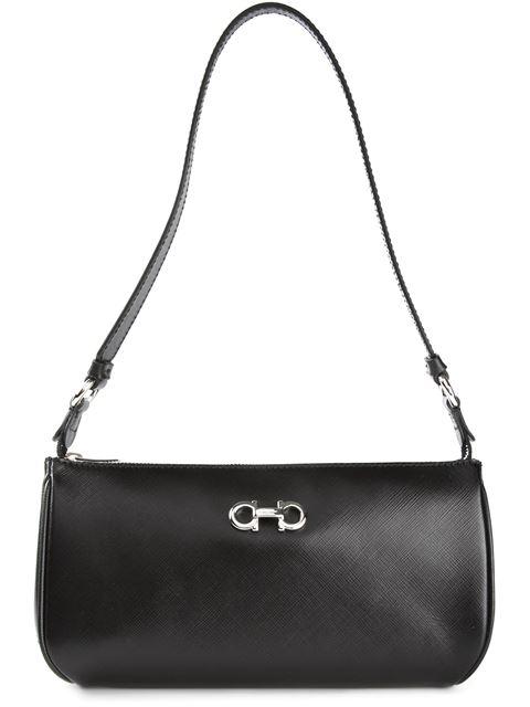 Black Calfskin 'Lisetta' Small Shoulder Bag
