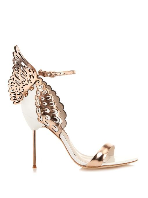Evangeline Angel Wings Leather Sandals