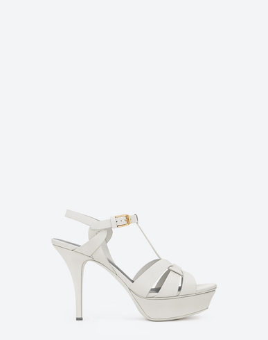 c6274f93c4 Classic Tribute 105 Sandal In Chalk And Black Leather, White
