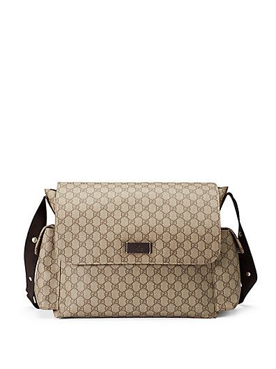 SSIMA FAUX-LEATHER DIAPER BAG W/ CHANGING PAD