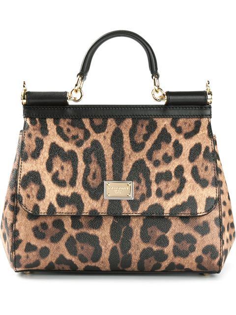 Sicily Medium Leopard-Print Textured-Leather Shoulder Bag