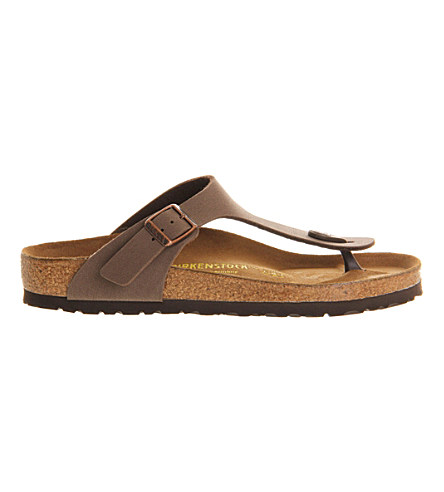 Faux-leather thong sandals