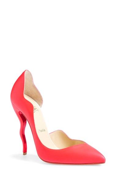 louis vuitton shoes for men - christian louboutin pumps Fluorescent orange patent leather ...