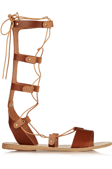 Thebes lace-up leather sandals
