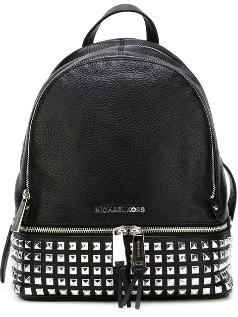 Rhea Studded Small Leather Backpack