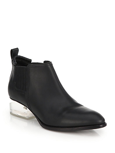 'Kori' cutout mirror metal heel leather Oxfords