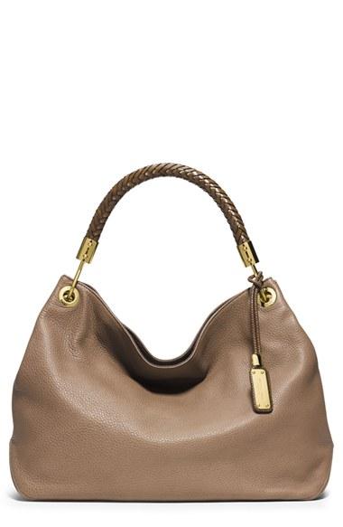 Low Price Michael Kors Skorpios Shoulder - Product Michael Kors  Large Skorpios Leather Shoulder Bag 80023
