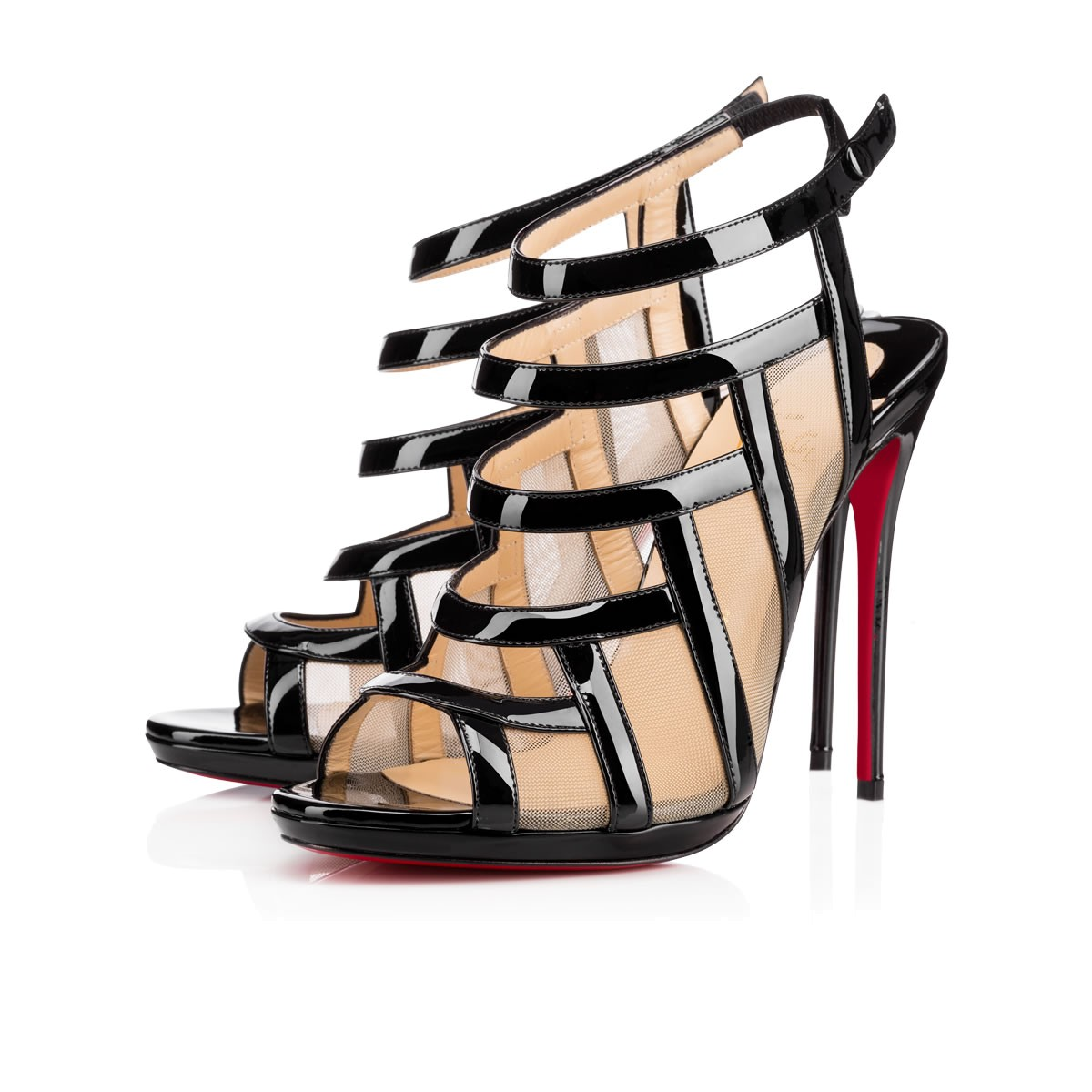christian louboutin snakeskin cage sandals