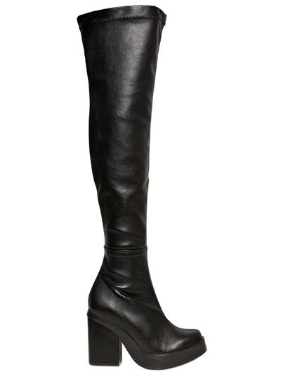 MIISTA Stretch Faux Leather Boots