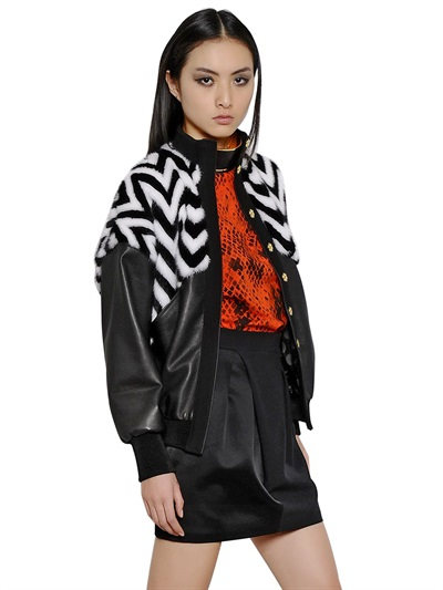 MINK AND NAPPA LEATHER JACKET