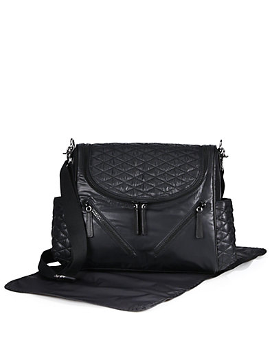 'JUDE' NYLON BABY BAG - BLACK