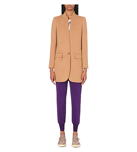 Women's Bryce Single-Breasted Coat in Camel