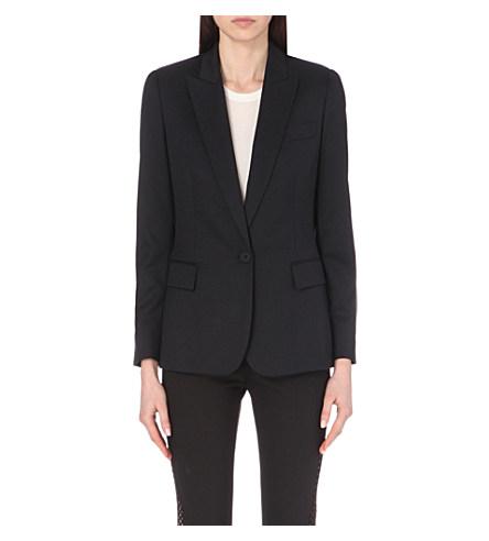 Women's Ingrid Single-Breasted Blazer Jacket in Black