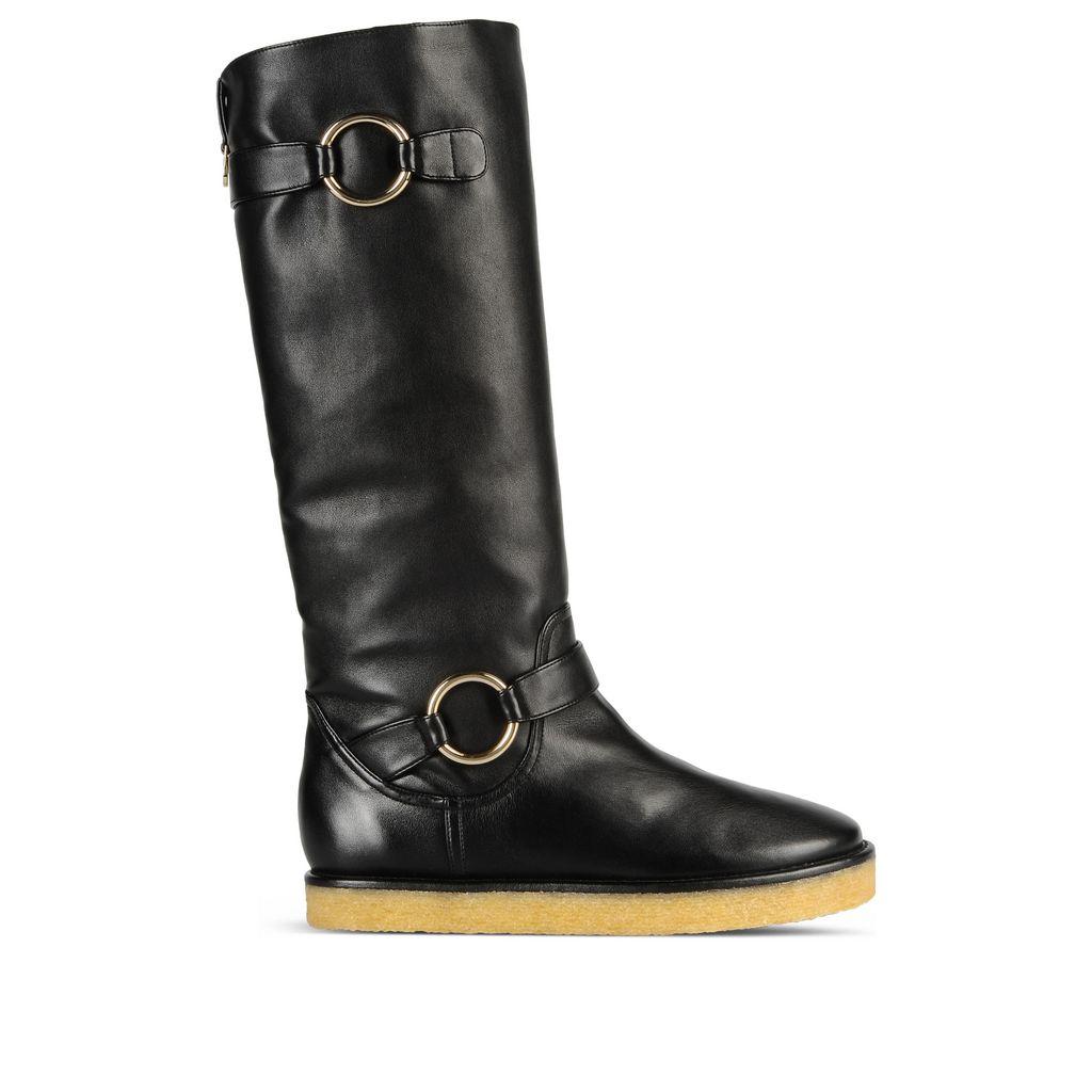 Black Crepe Rubber Boots