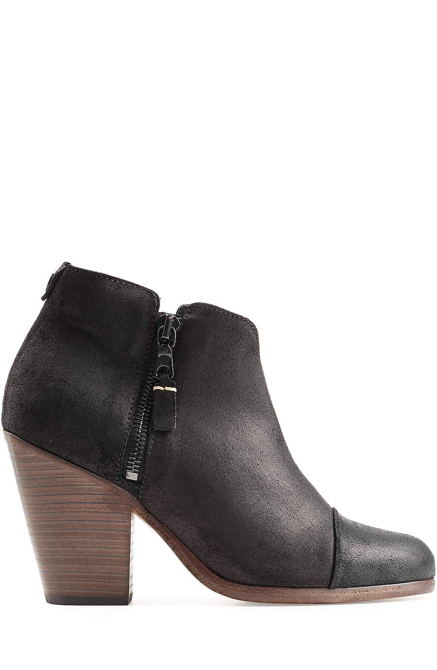 RAG AND BONE BLACK SUEDE CLASSIC MARGOT BOOTS