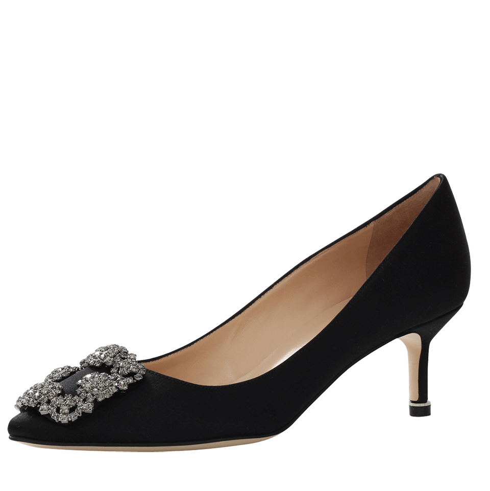 Hangisi 70 Crystal-Embellished Satin Pumps
