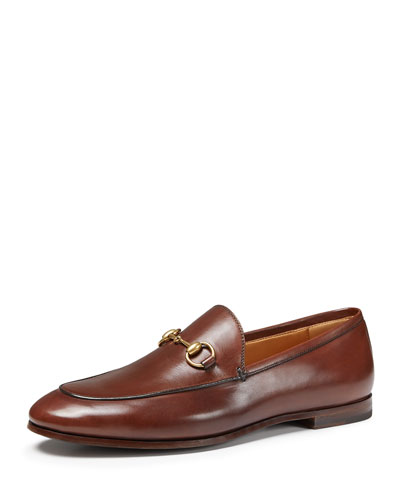 10MM BRIXTON HORSE BIT LEATHER LOAFERS, BROWN