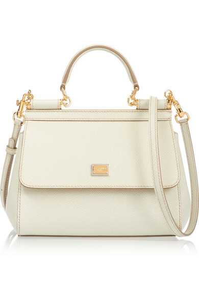 Sicily Small Textured-Leather Shoulder Bag