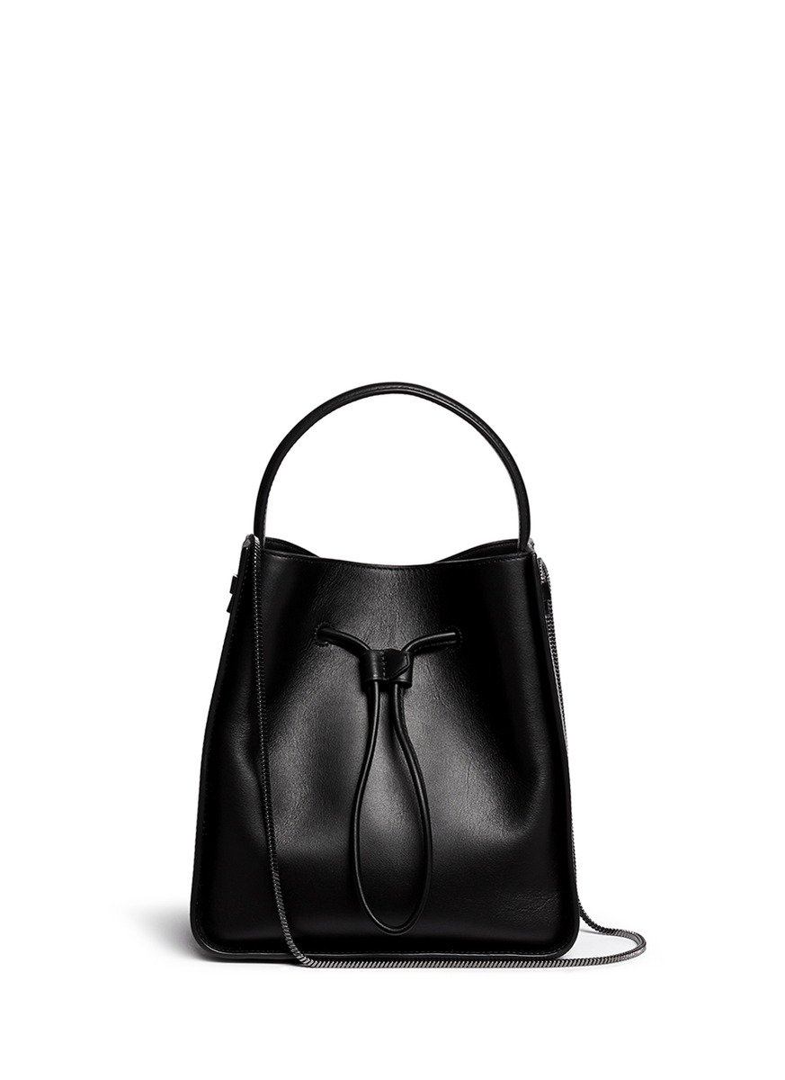 PHILLIP LIM SOLEIL SMALL BAG IN BLACK LEATHER