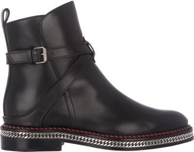 replica cl shoes usa - christian louboutin round-toe boots black leather brogue detail ...