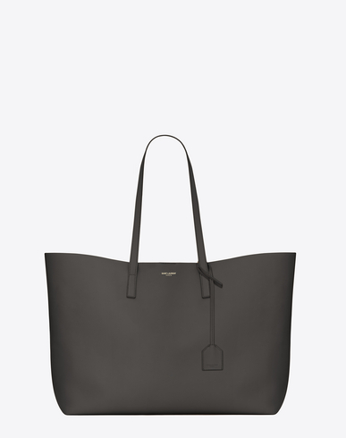 SHOPPING SAINT LAURENT TOTE BAG IN ARMY GREEN LEATHER