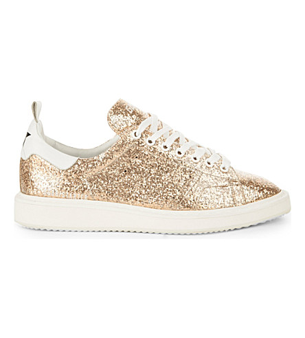 Gold Glitter Starter Low-Top Sneakers