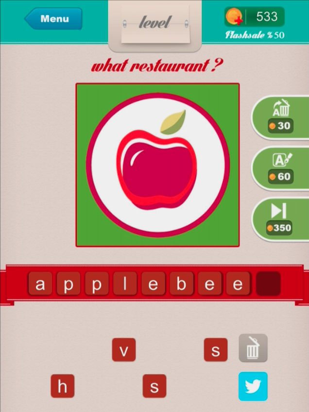 Restaurant ? - Level 5 applebees