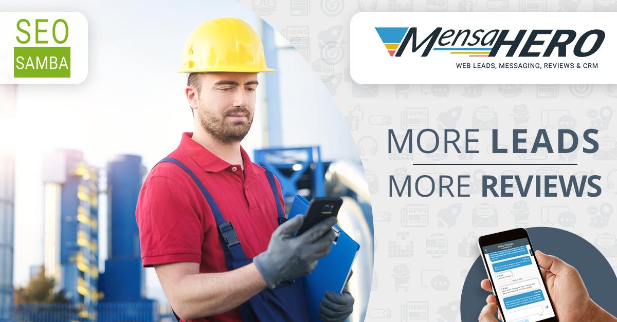 MensaHero Web to Text Chat App
