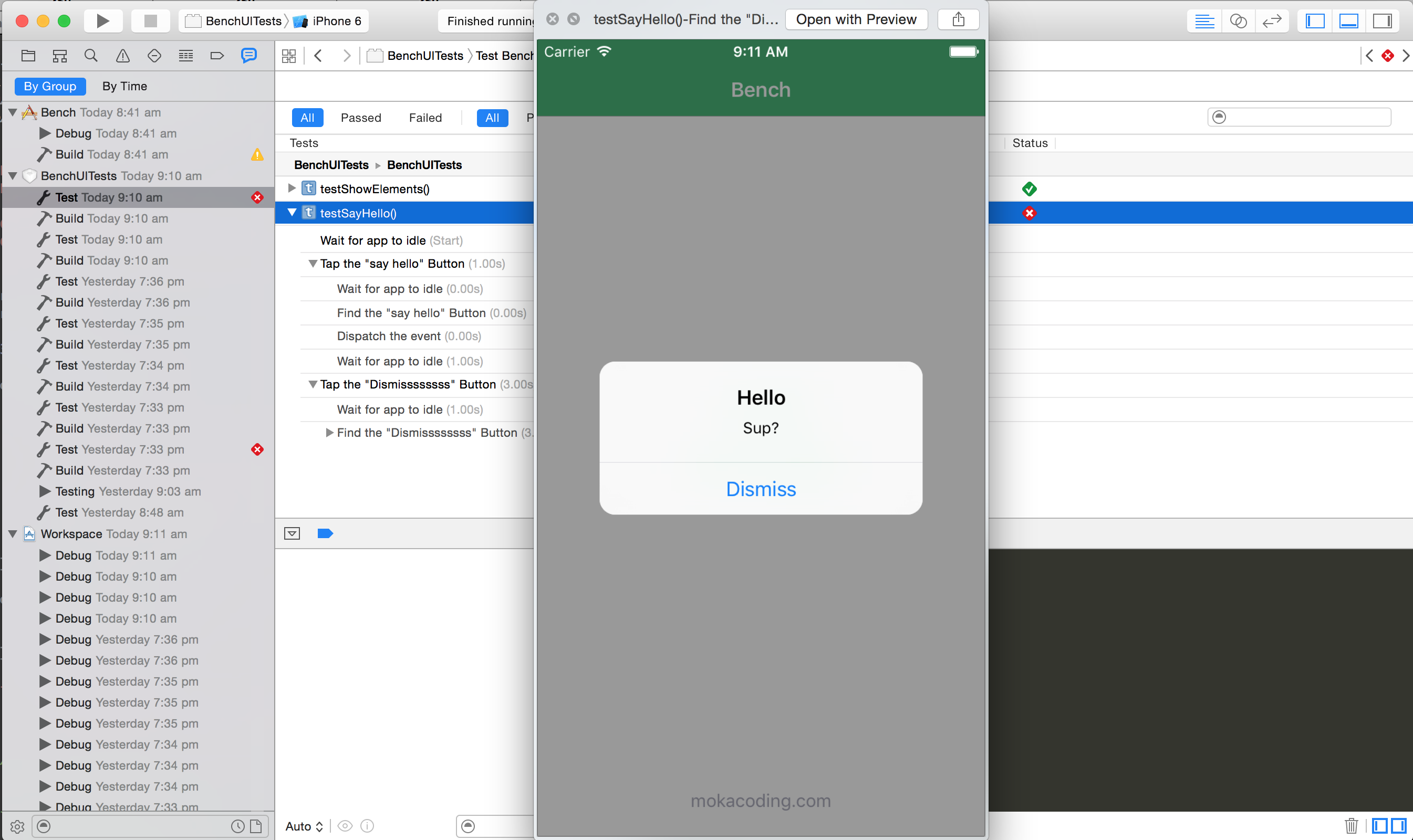 Xcode 7 UI testing, a first look | mokacoding