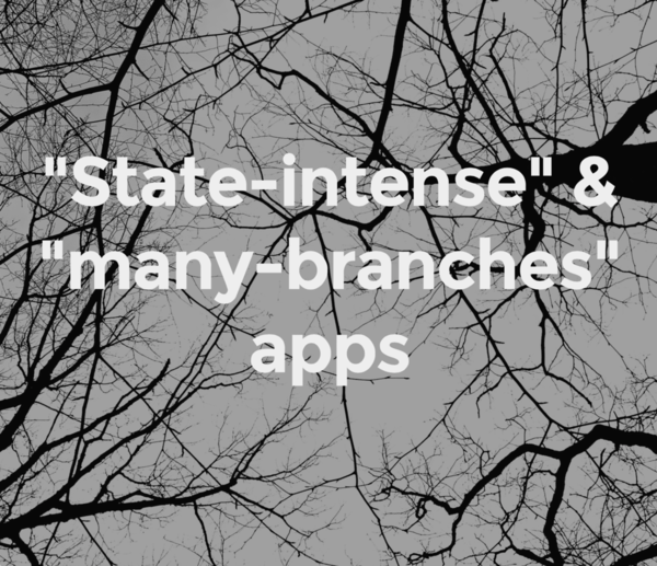 Apps with many state combinations