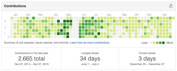 private GitHub activity