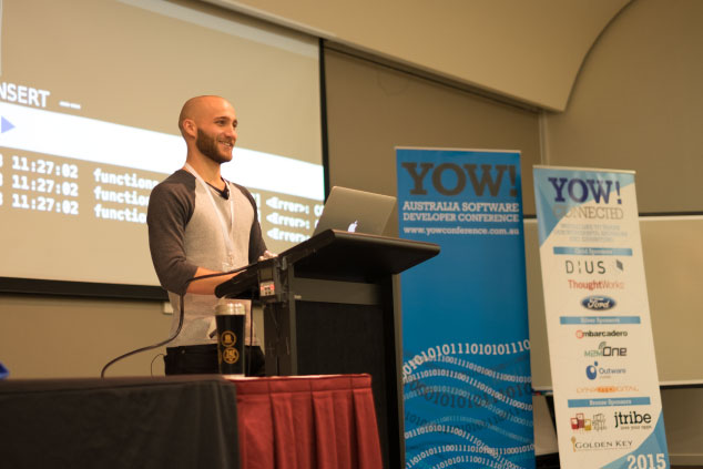 me giving a talk at YOW! Connected