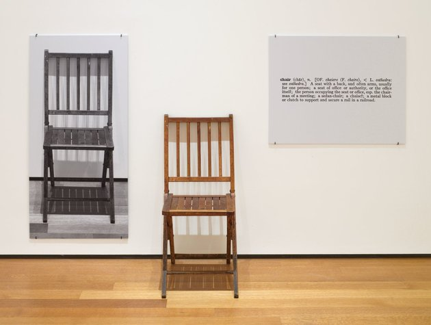 One and three chairs (jospeh kosuth)