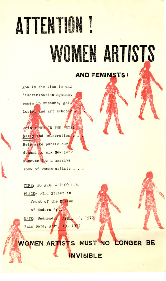 1972 attention women artists
