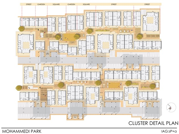 12b mohammedi park cluster plan
