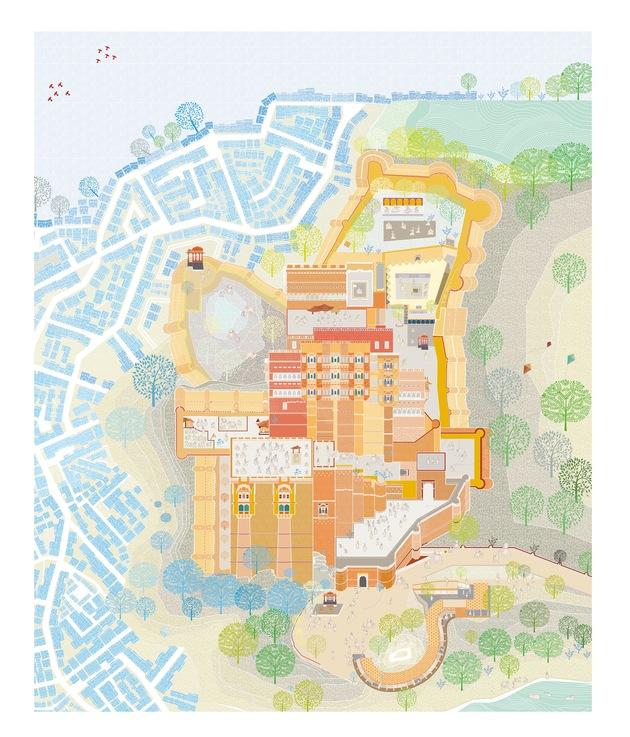 10. mehernagarh fort precinct addditions miniature