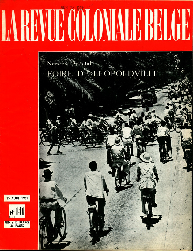 Fig. 7. la revue coloniale belge  issue  141  august 1951  special issue %e2%80%9cfoire de l%c3%a9opoldville%e2%80%9d
