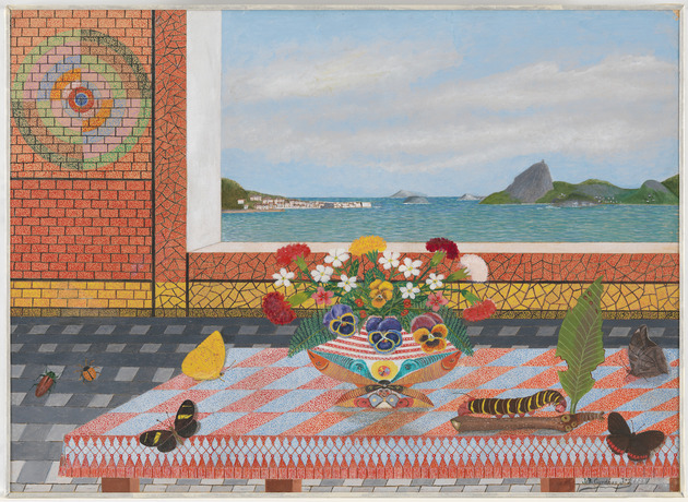 Still life with view of the bay of guanabara