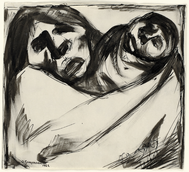 Oswaldo guayasami%cc%81n. untitled %28study for mother and child%29