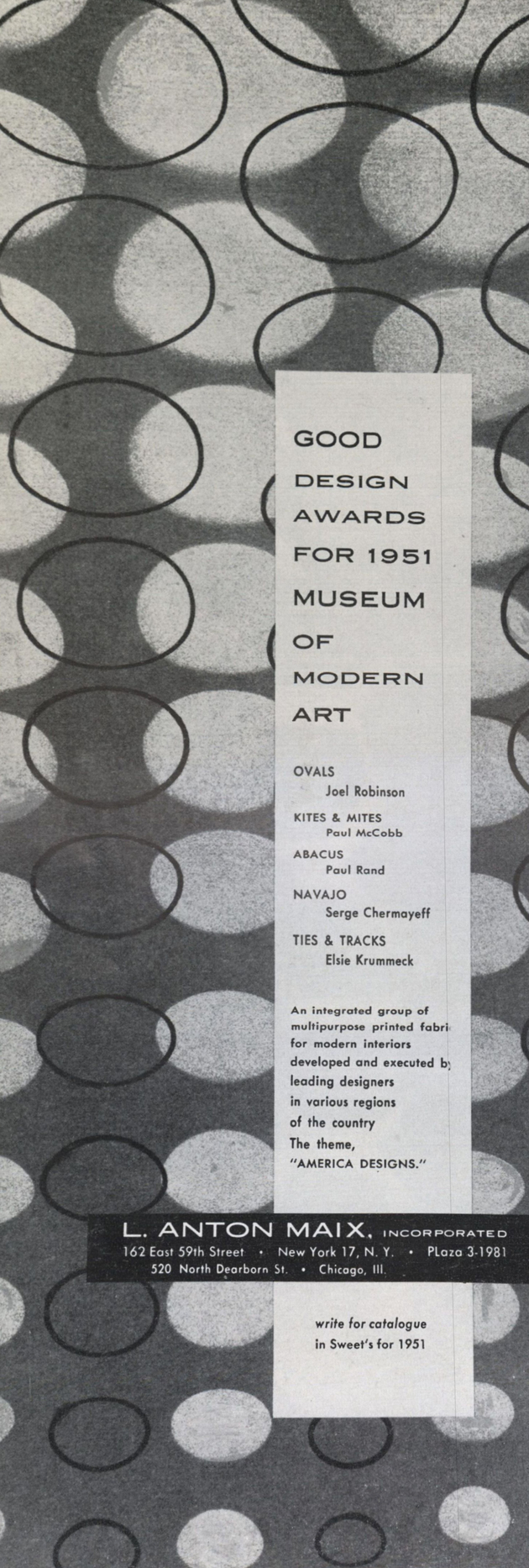 11 joel robinson good design ad   interors mag  dec. 1951