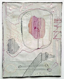 Medeic callisthetic moves 2 1980 81 sewing on textiles 60 x 50 cm low