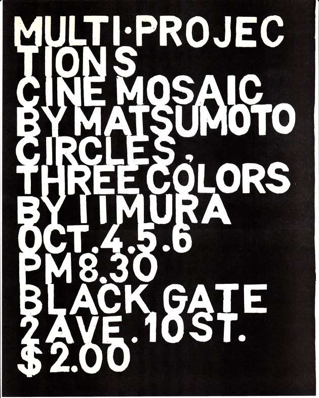 Poster circles threecolours blackgate