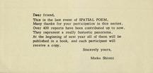 Spatial poem 4   invitation letter