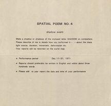 Spatial poem no. 4 instructions