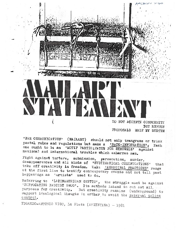 Vigo mail art statement english