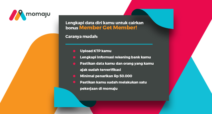 Infografis Cara Cairkan Bonus Member Get Member Momaju