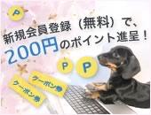 新規会員登録で200円のポイントプレゼント